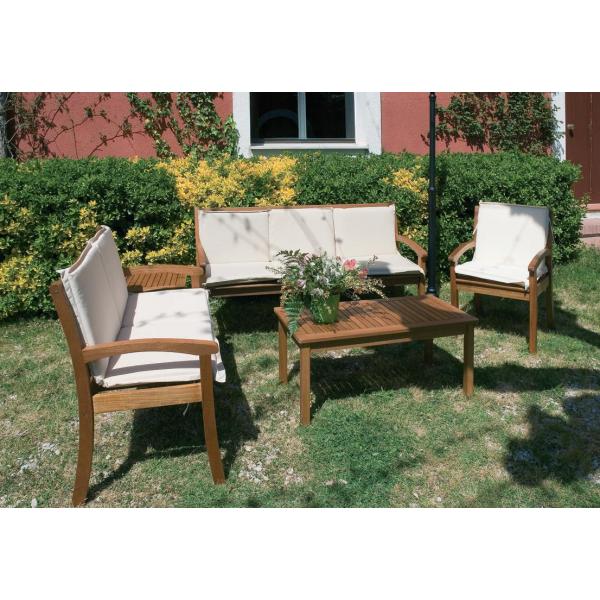 Divani legno e tessuto idee per il design della casa for Set divani da giardino
